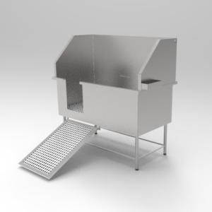 Banheira Veterinária Banho e Tosa em aço inox 430 1,30 x 65 x 140